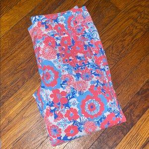 Lilly Pulitzer Capri floral pants 6 palm beach fit
